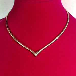 """Jewelry - Sterling Collar Necklace 16.5"""""""